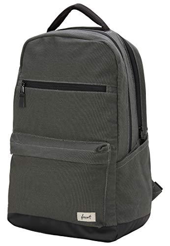 FORVERT Carlton Unisex Backpack lässiger Daypack,Rucksack mit 15 Zoll Laptopfach,verstärkten Boden,gepolsterter Rücken und Trageriemen,Green,one Size - Männlich Herren Köln