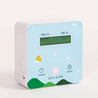 Airveda PM2.5, PM10 Pro - Air Quality Monitor - With Visual Indicator - App-enabled, Wi-Fi enabled