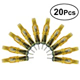 SUPVOX 20Pcs Professional Disposable Tattoo Needle Cartridges Sterile Short Tattoo Needle Fit Tattoo Cartridge Grips for Tattoo Machine Gun (15M1)