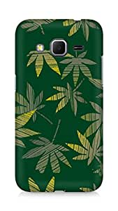 Amez designer printed 3d premium high quality back case cover for Samsung Galaxy Core Prime (Leaves cannabis plants surface texture)