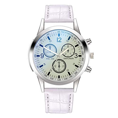 Luckhome Herrenuhr Ultradünne Armbanduhren für Männer Business Casual Mode Kleid Luxusuhren Quarzuhr Edelstahl Zifferblatt Casual Armband Uhr Männeruhr(F)