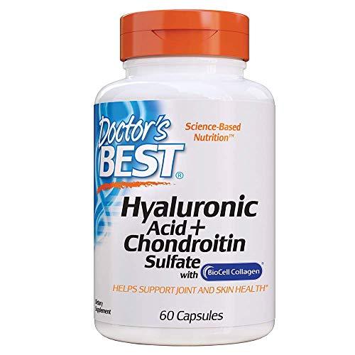 Doctor's Best | Acido ialuronico e solfato di condroitina con collagene BioCell | 60 compresse | senza glutine | senza soia