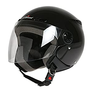 casco: Scotland D/Jet - Casco con Visera Larga, Negro, 59 (L)