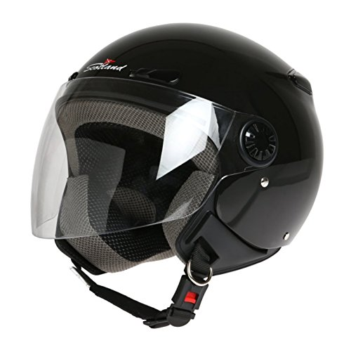 Scotland Casco D/Jet con Visera Larga, Nero, 60 XL