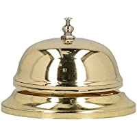 """Earlstree & Co."" Polished Brass-Finish Service Bell by Creative Tops, 8.5 x 6.5 cm (3¼"" x 2½"") - ukpricecomparsion.eu"