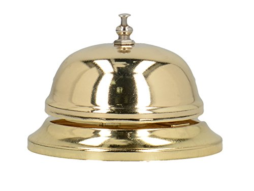 """""""Earlstree & Co."""" Polished Brass-Finish Service Bell by Creative Tops, 8.5 x 6.5 cm (3¼"""" x 2½"""") - Best Price"""