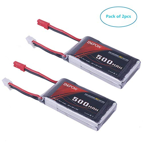 2PCS 2S Lipo Battery 25C 7.4V 500mAh Akku With JST Plug Connector Batteries for RC Car Off Road Truck by Crazepony-UK