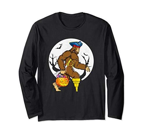Bigfoot-Piraten-Hut Schwert Peg Leg Kürbis Eimer Halloween - Piraten Pyjama Kleinkind Kostüm