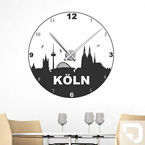 DESIGNSCAPE® Wandtattoo Uhr Köln Skyline