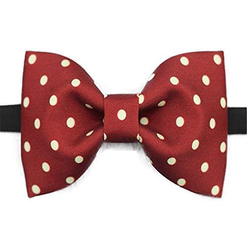 ZSRHH-Neckchiefs Halstücher Herren Krawatte Classic Silk Red Dot Print Bow Tie verstellbar -