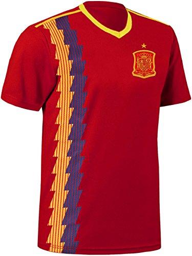 Blackshirt Company Spanien Trikot Fußball WM EM Fan Trikot Rot Größe M