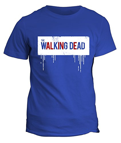 Tshirt The walking dead alive - zombie - in cotone by Fashwork Blu