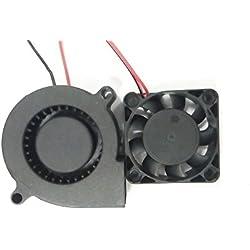 Extrusora impresora 3D HICTOP Turbo ventilador de refrigeración del ventilador 24V DC 0,9 M de cableado de 50mm x 15mm N4010 Partes de la impresora 3D ventilador (2 paquetes)