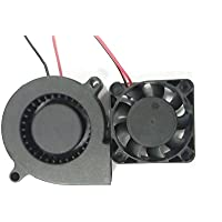 HICTOP 3D-Drucker Extruder Turbo Fan Lüfter 12V DC 0.9M Wiring 50mm x 15mm N4010 Fan 3D-Drucker-Teile (2 Packungen)