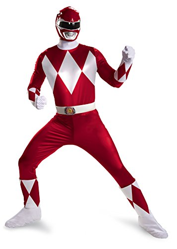 Red Ranger Super Deluxe Adult Fancy dress costume -