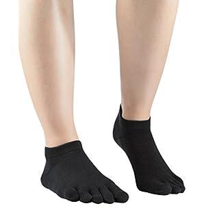 Knitido Sneaker-Zehensocken Everyday Essentials aus Baumwolle, Unisex, Größe:39-42, Farbe:Black