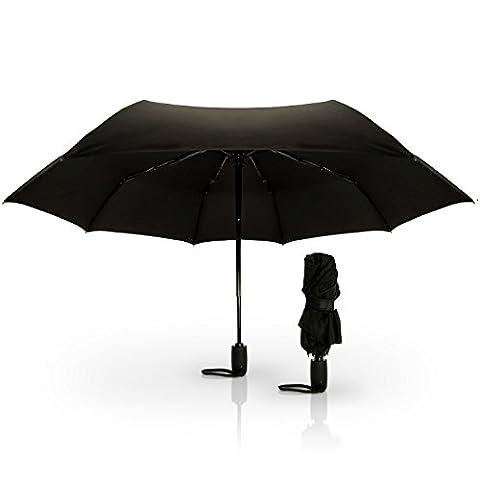 CampTeck Parapluie de Voyage Pliant & Résistant Au Vent avec Ouverture et Fermeture Automatique