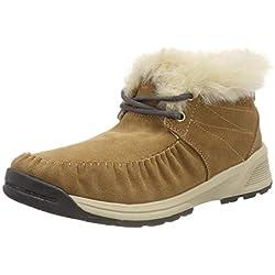 Columbia MARAGAL Slip WP, Botas de Nieve para Mujer, Marrón (Elk, Ancient Fossil), 37 EU