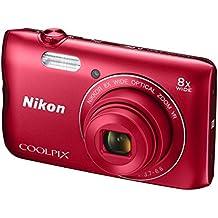"""Nikon COOLPIX A300 Compact camera 20.1MP 1/2.3"""" CCD 5152 x 3864pixels Red - Digital Cameras (20.1 MP, 5152 x 3864 pixels, 1/2.3"""", CCD, 8x, Red)"""