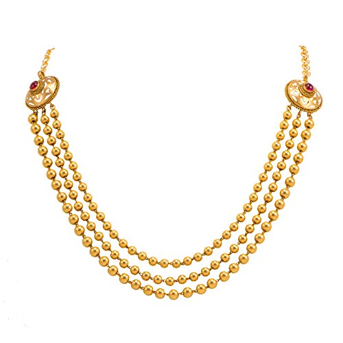 Joyalukkas Apoorva Collection 22k Oxidized Gold Chain Necklace