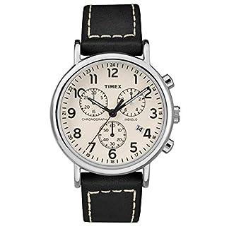 Timex Reloj Cronógrafo para Unisex Adultos de Cuarzo con Correa en Cuero TW2R42800