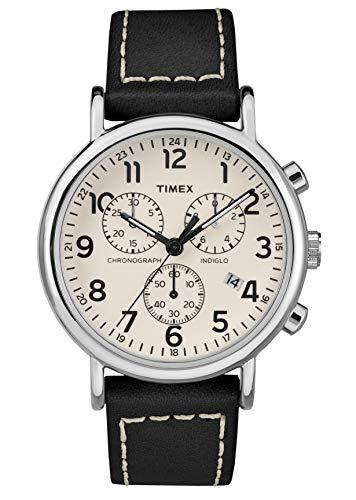 Timex Herren Chronograph Quarz Uhr mit Leder Armband TW2R42800