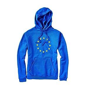 Butlers Europa Kapuzenpullover in verschiedenen Größen - EUROPAWAHL Hoodie in Blau - Pullover für Damen und Herren