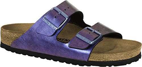BIRKENSTOCK Arizona BF Graceful Damen Sandaletten,Frauen Sandalen,elegant,edel,Seidenglanz,Orig Fußbett,Violett,EU 35S