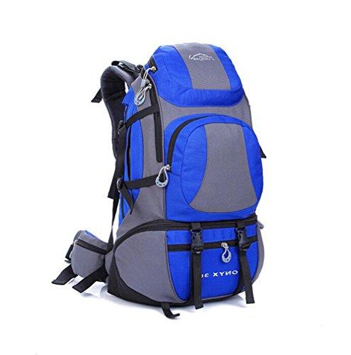 Wmshpeds 45L Borsa a tracolla grande capacità impermeabile zaino alpinismo uomini & donne all'aperto borsa a tracolla C