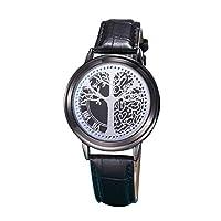 ACHICOO LED Fashion Men Women Waterproof Sports Wrist Watch with Leather Band Black L life Tree