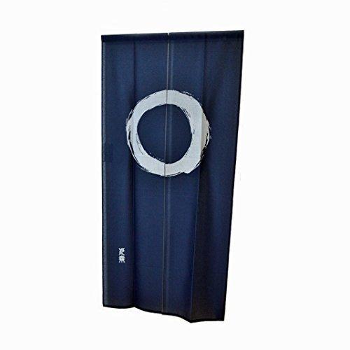 Noren cortina Glorafilia Enso Circle Japón azul largo