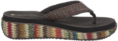 Dunlop Wyoming, Mules femme Multicolore - Brown/Multi