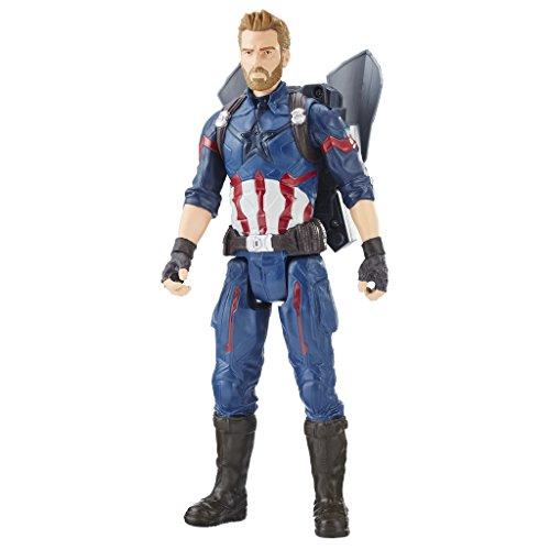 Marvel- Titan y Mochila Power Fx Capitán América (Hasbro E0607105)
