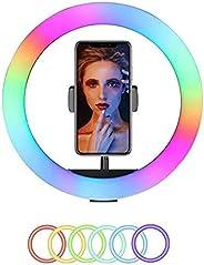 Selfie Ring Light 30cm RGB Ring Light Photography Lamp Beauty Light 3000K-6000K Dimmable Colorful Light USB Po