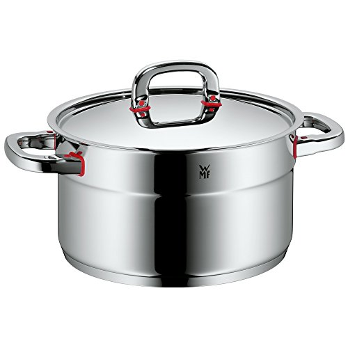 WMF cookware Ø 24 cm approx. 5,6l Premium One Inside scaling  vapor hole Made in Germany Cool+ Technology metal lid Cromargan stainless steel brushed suitable for all stove tops including induction dishwasher-safe
