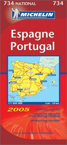 Carte routière : Espagne - Portugal