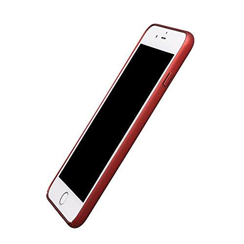 """xhorizon FM8 Drei-Stufen Plating Baby Haut Volleinschlag Schutz Stark Rücken Case Cover für iPhone 7 Plus [5.5""""] (Schwarz) Rot mit einem 9H Ausgeglichen Glas Film"""