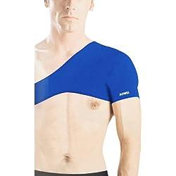 Gleader Protector de Hombro Solo Deportivo Elastico Neopreno Azul para Hombres