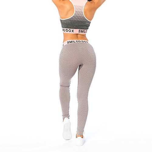 Smilodox Damen Seamless Leggings Stain, Farbe:Rosa, Größe:M - 4