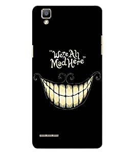 Citydreamz Mad/Laughing/Funny Hard Polycarbonate Designer Back Case Cover For Oppo F1