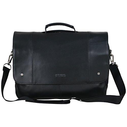 Kenneth Cole Aktentaschen (Kenneth Cole REACTION Leder-Aktentasche mit 2 Fächern, für Laptops, 40,6 cm (16 Zoll), schwarz (schwarz) - 529805)