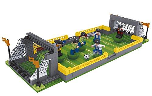 ausini - Juego de bloques, construcción campo de fútbol, 213 piezas (Colorbaby 42828)