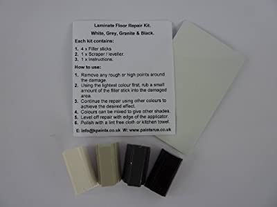 1 x White Grey Black Granite Laminate Floor & Worktop Repair Kit - low-cost UK light shop.
