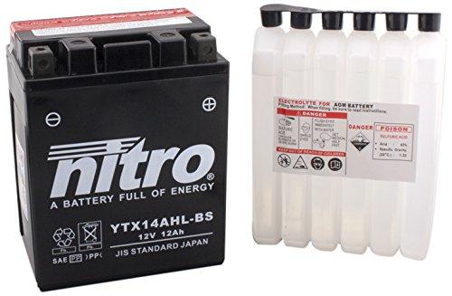 NITRO YTX14AHL-BS-Batteria Moto-N-AGM aperto con acido