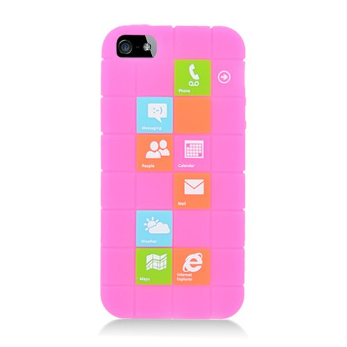 Eagle Zelle Handy Fall für Apple iPhone SE/5/5S-Retail Verpackung-Checker Hot Pink