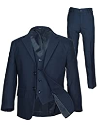 SIRRI Italian Schnitt Jungen-marineblau Anzug, Seite Junge Hochzeit Ball Kommunion Jungen Anzug