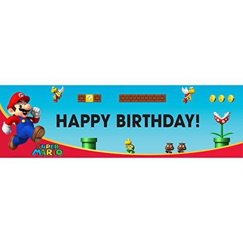 (Geburtstag Express–Super Mario Bros. Geburtstag Banner One-Size multi)
