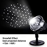 Decorative Snow Projector Light LED  Snow Falling Light Indoor Outdoor Christmas Light, Snowfall Led Lights Projector with Remote Control, Waterproof IP44 Projector Low Voltage Safe Design