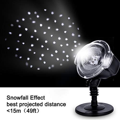 Proyector luz LED Navidad - Luz nieve interior exterior