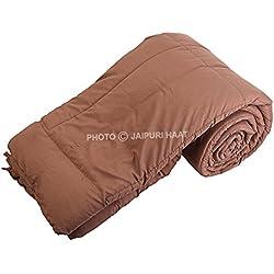 Jaipuri Haat Soft Micro Polyester and cotton Mix Single Duvet /Comforter/ Quilt/ Razai along with Travel Bag